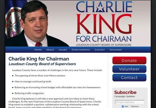 Charlie King for Chairman Loudoun County Board of Supervisors