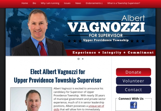 Elect Albert Vagnozzi for Upper Providence Township Supervisor