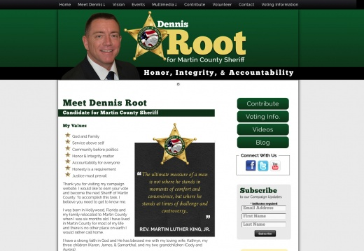 Dennis Root for Martin County Sheriff