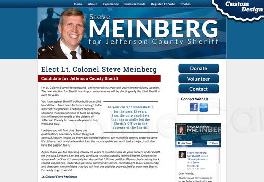 Elect Lt. Colonel Steve Meinberg for Jefferson County Sheriff