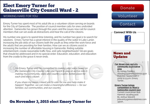 Emory Turner for Gainesville City Council Ward - 2