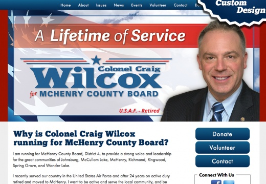 Colonel Craig Wilcox running for McHenry County Board