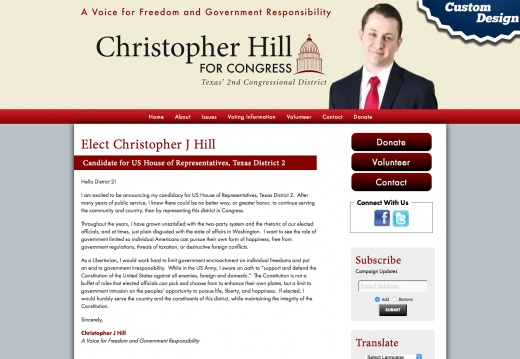 Elect Christopher J Hill Candidate for US House of Representatives, Texas District 2