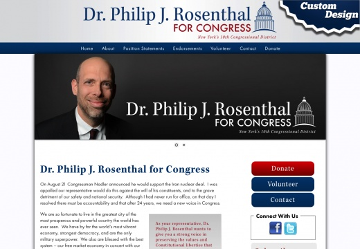 Dr Philip J Rosenthal for Congress