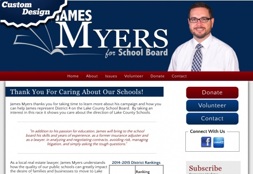 James Myers for Lake County School Board, District 4