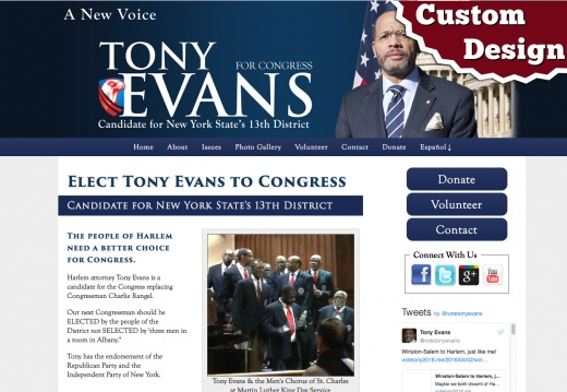 Tony Evans for Congress - New York State's 13th District
