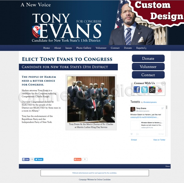 Tony Evans for Congress - New York State's 13th District.jpg