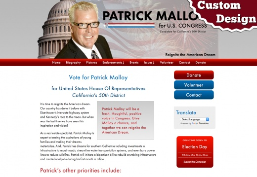 Patrick Malloy for United States House Of Representatives California's 50th District
