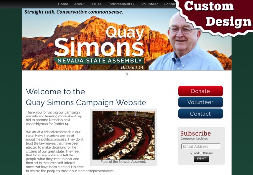 Elect Quay Simons - Nevada State Assembly, District 14