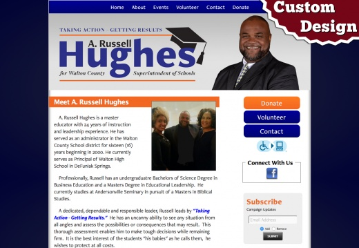 A Russell Hughes for Walton County Superintendent of Schools