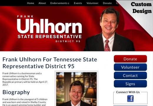 Frank Uhlhorn For Tennessee State Representative District 95