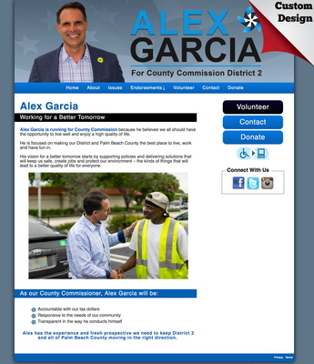 Alex Garcia is running for County Commission