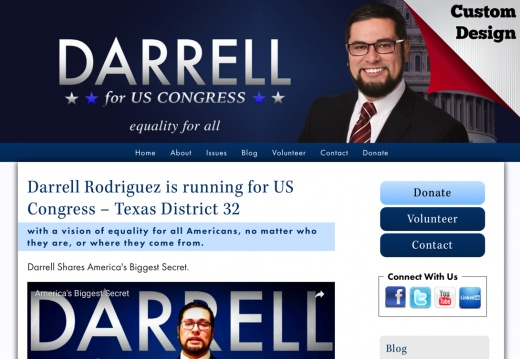 Darrell Rodriguez for US Congress – Texas District 32