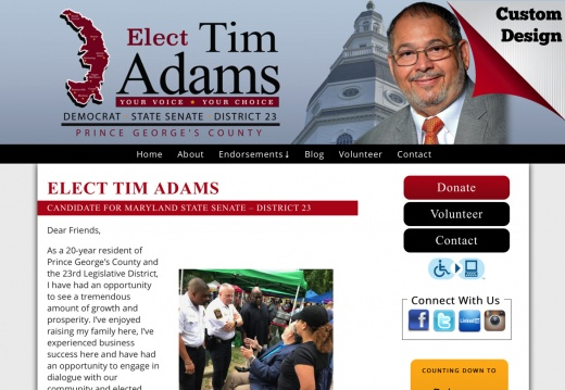 ELECT TIM ADAMS CANDIDATE FOR MARYLAND STATE SENATE – DISTRICT 23