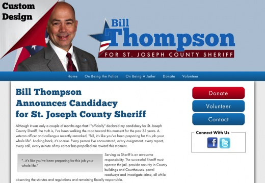 Bill Thompson Announces Candidacy for St. Joseph County Sheriff