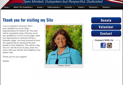 Debbie Wood for State Representative for District 38