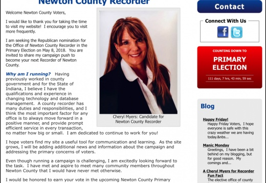 Cheryl Myers for Newton County Recorder
