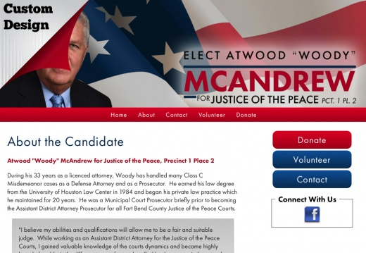 "Atwood ""Woody"" McAndrew for Justice of the Peace, Precinct 1 Place 2"