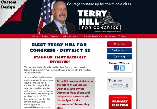 Terry Hill for  Congress   District 42