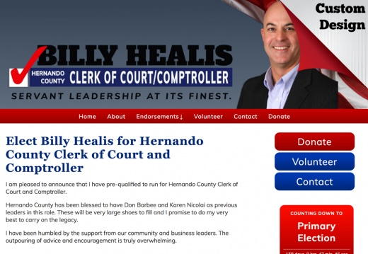 Billy Healis for Hernando County Clerk of Court and Comptroller