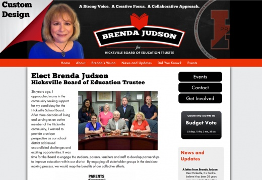 Brenda Judson Hicksville Board of Education Trustee