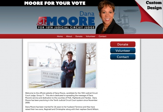 Dana Y. Moore for 10th Judicial Circuit Judge, Group 11.