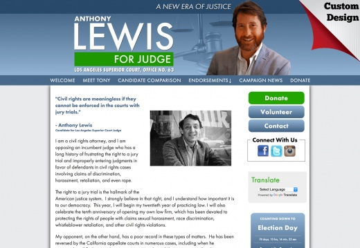 Anthony Lewis for Judge
