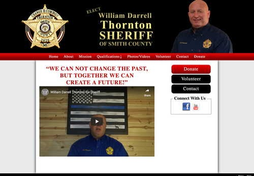 William Darrell Thornton Candidate for Smith County Sheriff