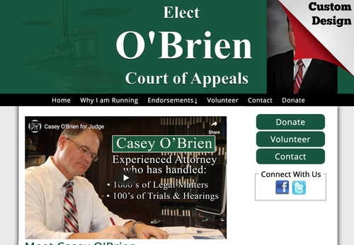 Casey O'Brien Candidate for Judge - 11th District Ohio Court of Appeals