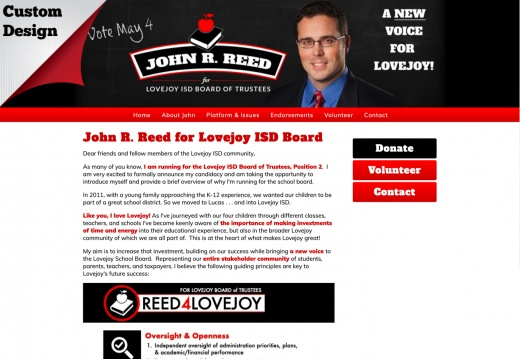 John R. Reed for Lovejoy ISD Board