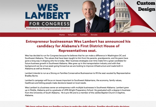 Wes Lambert for Congress - Alabama's 1st Congressional District
