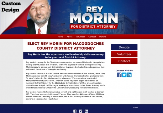 Rey Morin for Nacogdoches County District Attorney