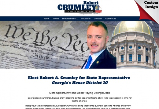 Robert A. Crumley for State Representative Georgia's House District 10