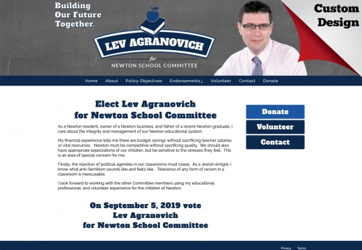 Lev Agranovich for Newton School Committee