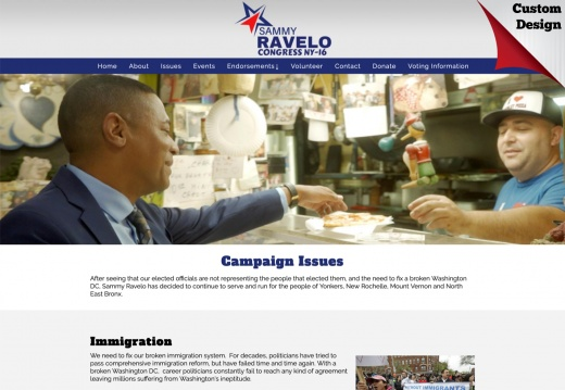 Sammy Ravelo for Congress - NY district 16