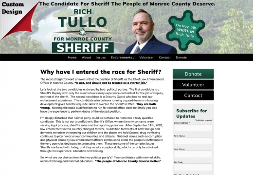 Rich Tullo for Monroe County Sheriff