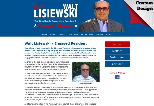 Walt Lisiewski for Director Position 7