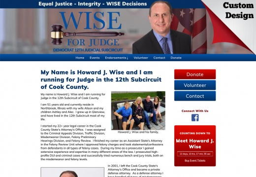 Howard J. Wise for Judge - 12th Subcircuit of Cook County