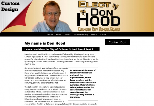 Don Hood for City of Calhoun School Board Post 5