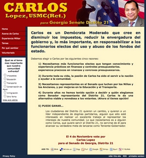 Carlos Lopez  for US Senate - Spanish Version