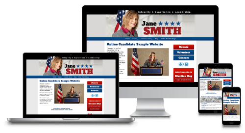 Political Campaign Websites on Screens