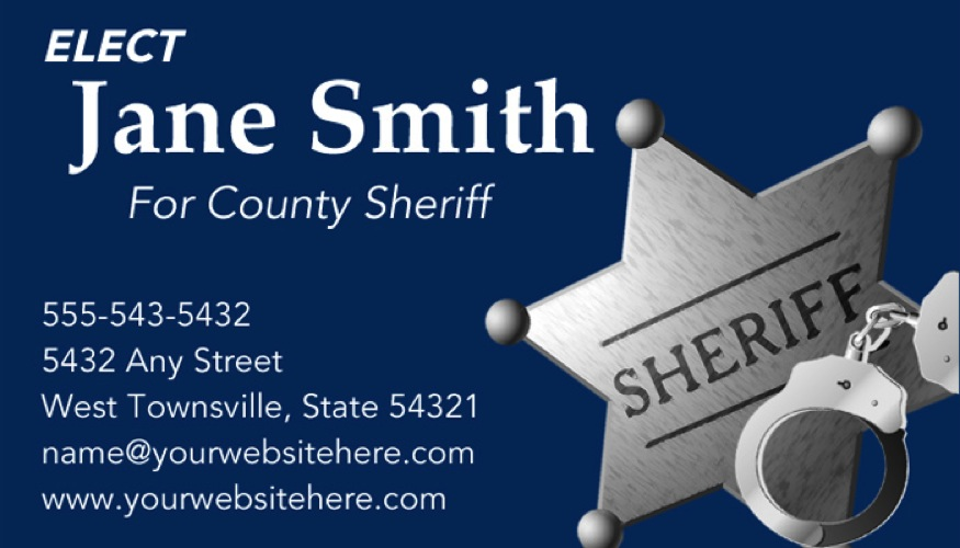 Sheriff candidate print templates blue theme online candidate political letterhead template colourmoves