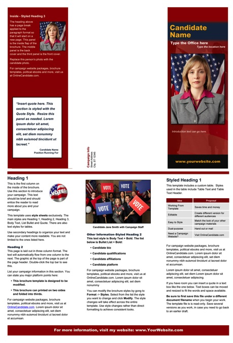 military campaign plan template - political military print templates red and blue theme