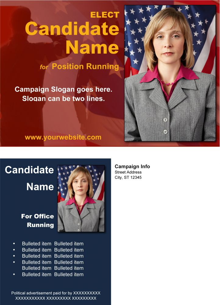 PoliticalMilitary Print Templates  Red And Blue Theme  Online