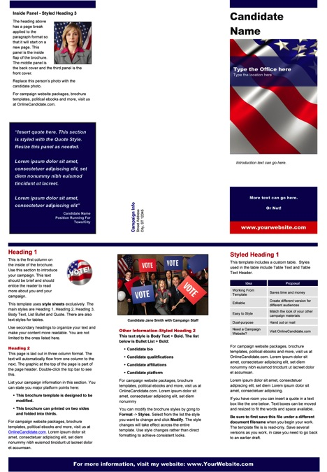 Red, White and Blue Brochure Template