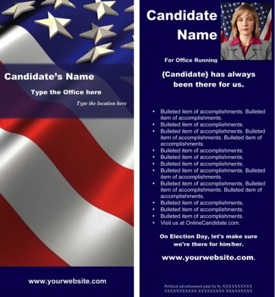 Political Print Templates - Red, White and Blue Theme - Word