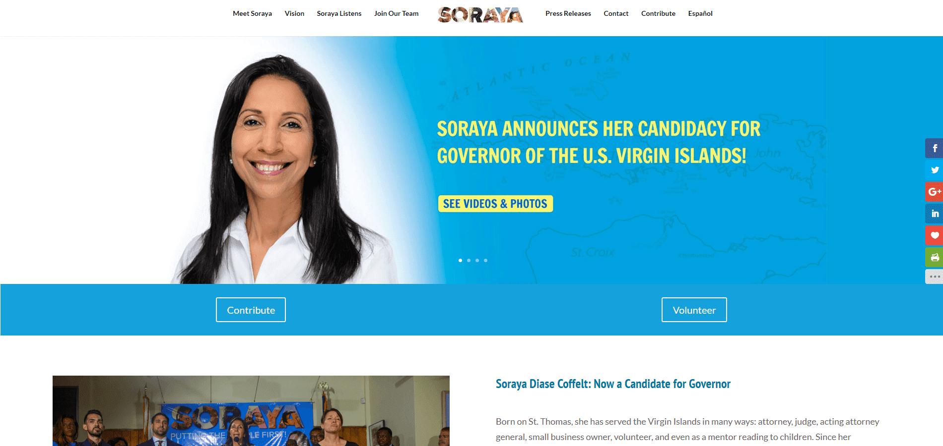Custom Political WordPress Design Example