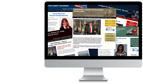 campaign websites for political candidates running for office